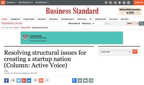 Resolving Structural Issues for Creating a Startup Nation