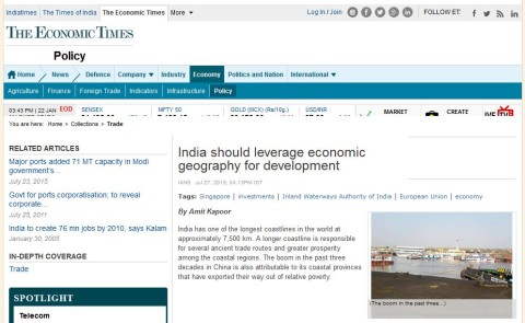India should leverage economic geography for development