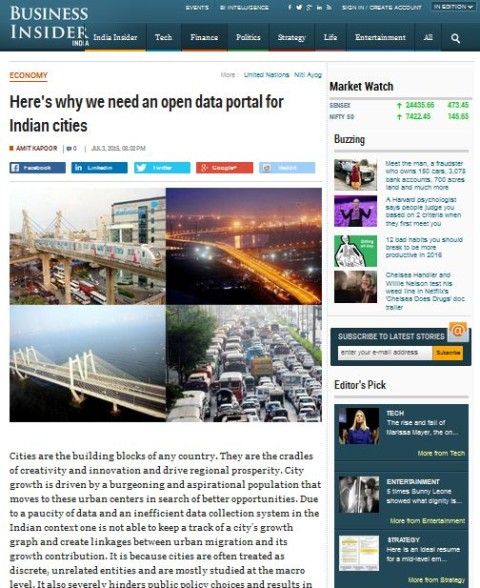 Here's why we need an open data portal for Indian cities