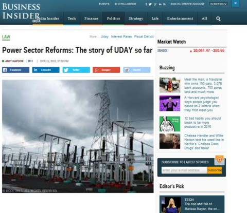 Power Sector Reforms: The story of UDAY so far