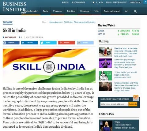 Skill in India