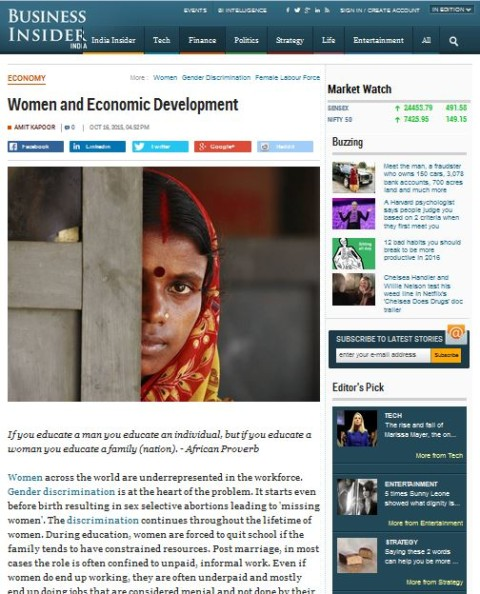 Women and Economic Development