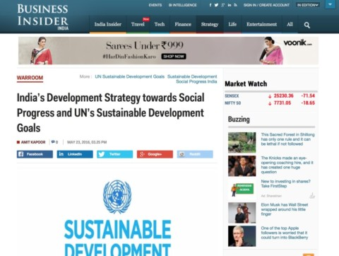 India's Development Strategy towards Social Progress and UN's Sustainable Development Goals