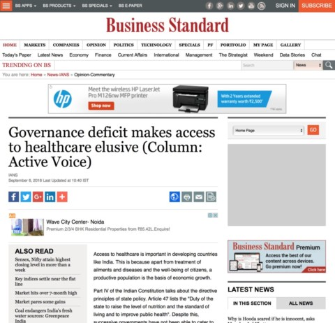 Governance deficit makes access to healthcare elusive