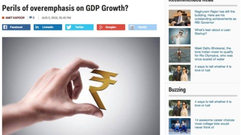 Perils of overemphasis on GDP Growth?