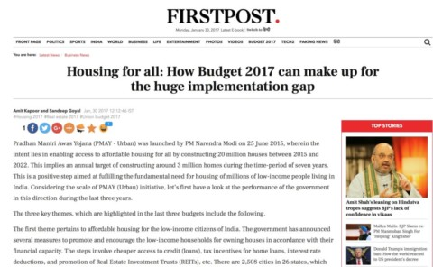 Housing for all: How Budget 2017 can make up for the huge implementation gap