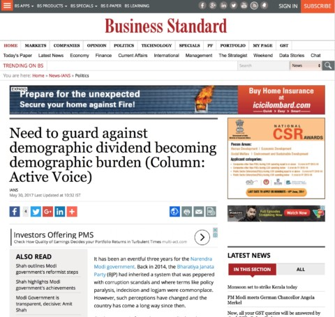 Need to guard against demographic dividend becoming demographic burden