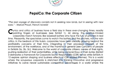 Pepsico: The Corporate Citizen