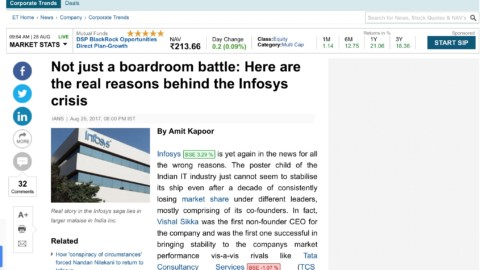 Not just a boardroom battle: Here are the real reasons behind the Infosys crisis