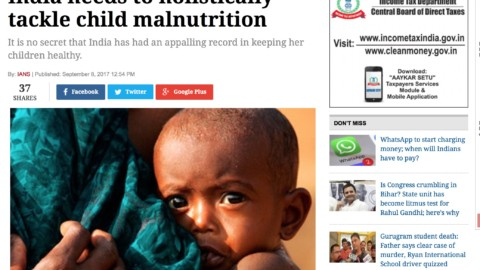 India needs to holistically tackle childmalnutrition