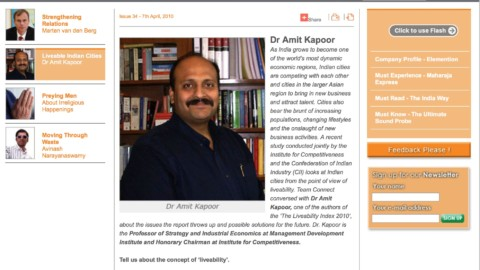 Indo Dutch Connect in an interaction with Dr. Amit Kapoor