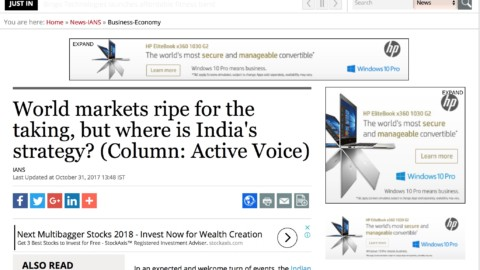 World markets ripe for the taking, but where is India's strategy?