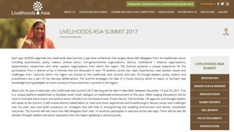 Strengthening Livelihoods of the Poor: Role of Private Sector