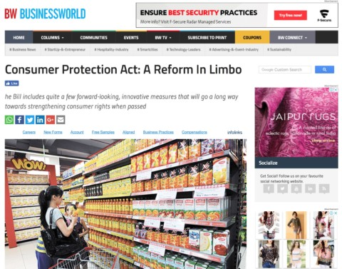 Consumer Protection Act: A Reform In Limbo
