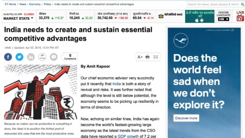 India needs to create and sustain essential competitive advantages