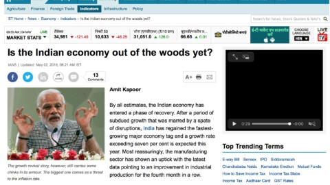 Is the Economy Out of the Woods Yet?